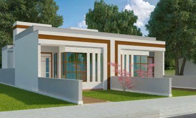 Projeto de casa geminadas pronto para construir