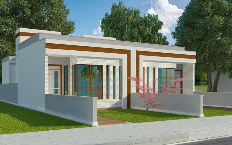 Conhecido Planta de Casa Belford Roxo: casas individuais ou geminadas JB47