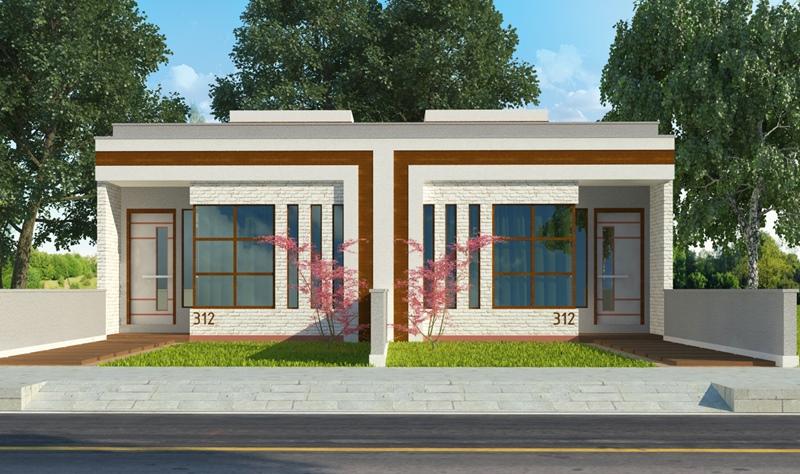 Extremamente Planta de Casa Belford Roxo: casas individuais ou geminadas CR81