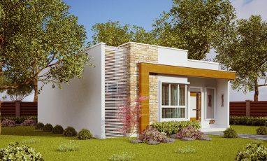 Foto de Casa pequena e moderna com 2 quartos e 1 suíte