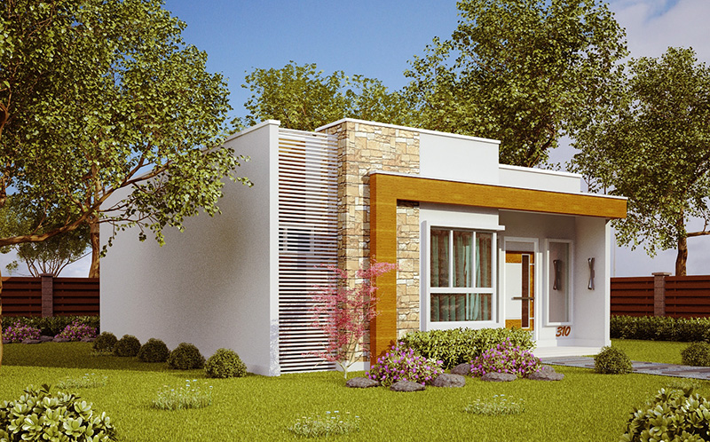 Planta de casa natal casa pequena e moderna com 2 quartos for Casas modernas 8x20