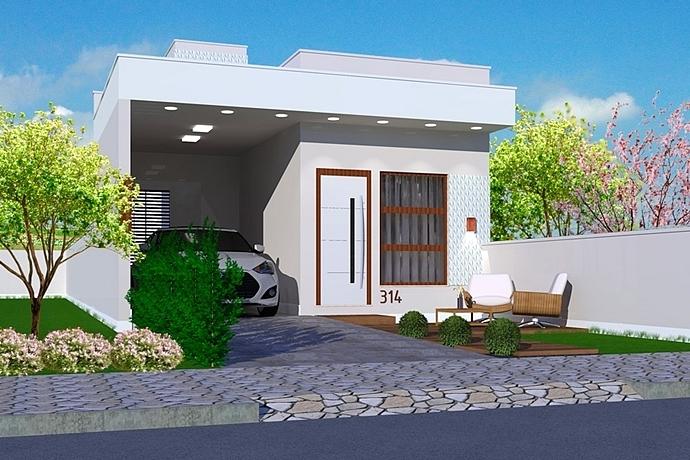 Planta de casa marab projeto de casa pequena para for Modelos jardines para casas pequenas