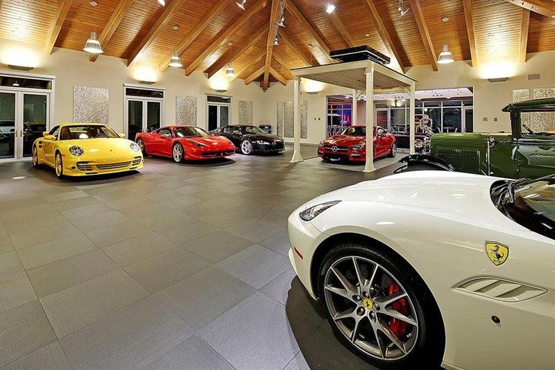 garagem carros de luxo e exóticos