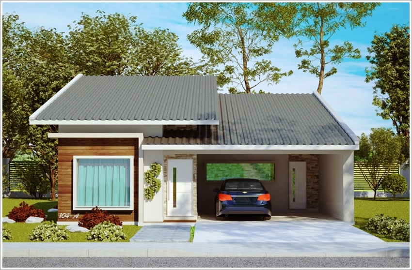 42 modelos de fachadas de casas para voc se inspirar for Modelos de casas fachadas fotos