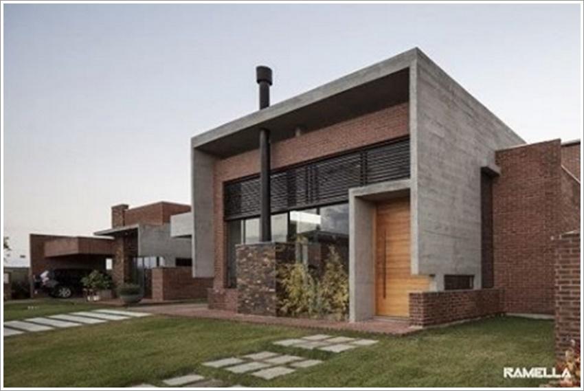 42 modelos de fachadas de casas para voc se inspirar for Casas modernas hormigon visto
