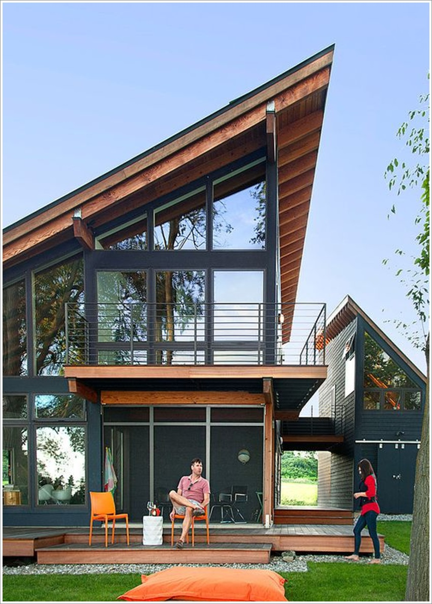 42 modelos de fachadas de casas para voc se inspirar for Beach house designs usa