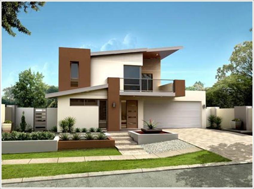 42 modelos de fachadas de casas para voc se inspirar for Fotos de casas modernas com telhado aparente