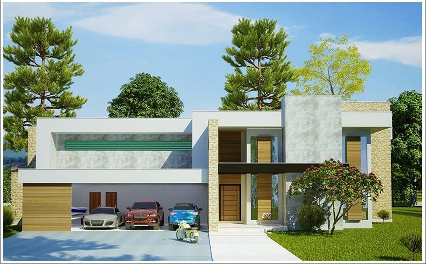 Conhecido 42 modelos de fachadas de casas para você se inspirar GL03