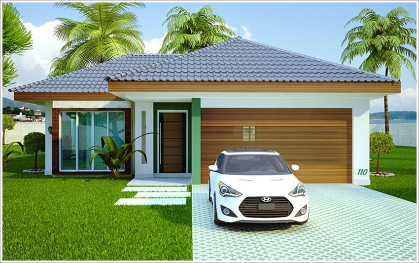 42 modelos de fachadas de casas para voc se inspirar for Piani casa africani gratis