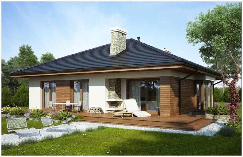 Modelo de casa com alpendre fachada de casa moderna com for Modelos de fachadas de casas