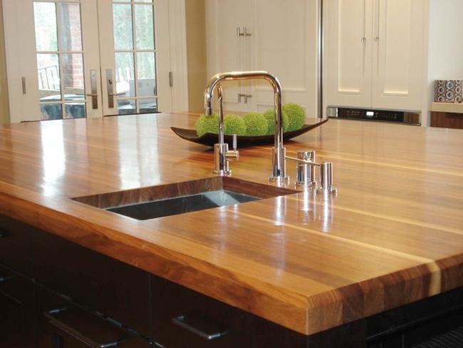 bancadas-de-cozinha em madeira