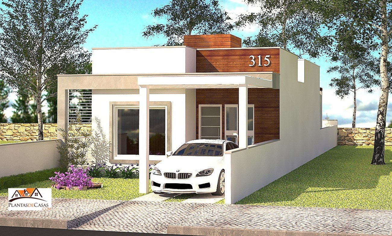 Planta de casa piracicaba casa pequena com 2 quartos para terreno estreito plantas de casas for Casas pequenas modelos