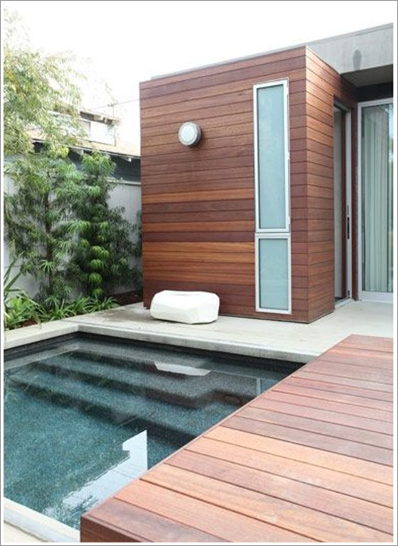 50 modelos piscina pequena para inspirar sua reforma ou constru o plantas de casas. Black Bedroom Furniture Sets. Home Design Ideas