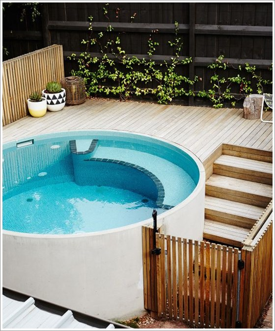 50 modelos piscina pequena para inspirar sua reforma ou constru o plantas de casas - Modelos de piscinas pequenas ...