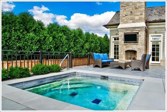 50 modelos piscina pequena para inspirar sua reforma ou for Tipos de piscinas para casas