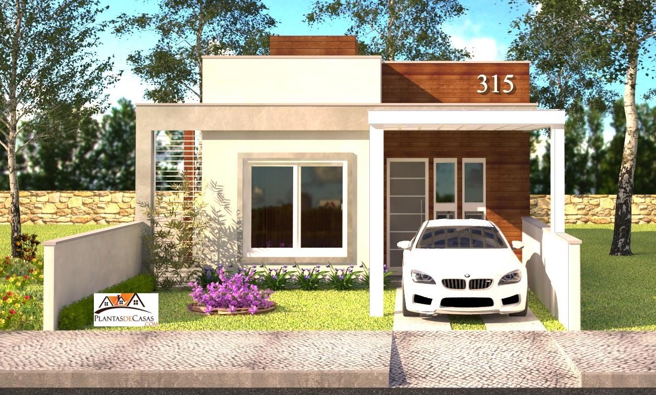 Planta de casa Piracicaba: Casa pequena com 2 quartos para ... - photo#45