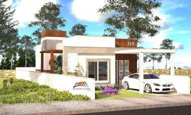 Projeto de casa para terreno estreito