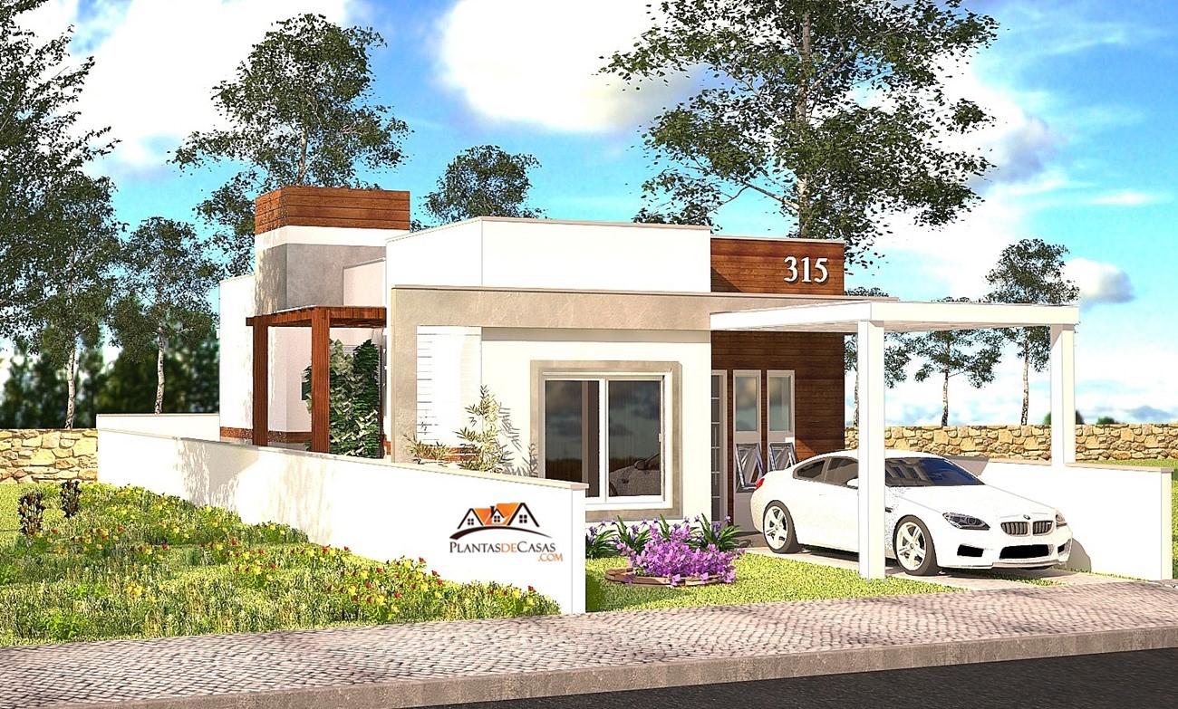 Planta de casa piracicaba casa pequena com 2 quartos para for Casa moderna 90m2