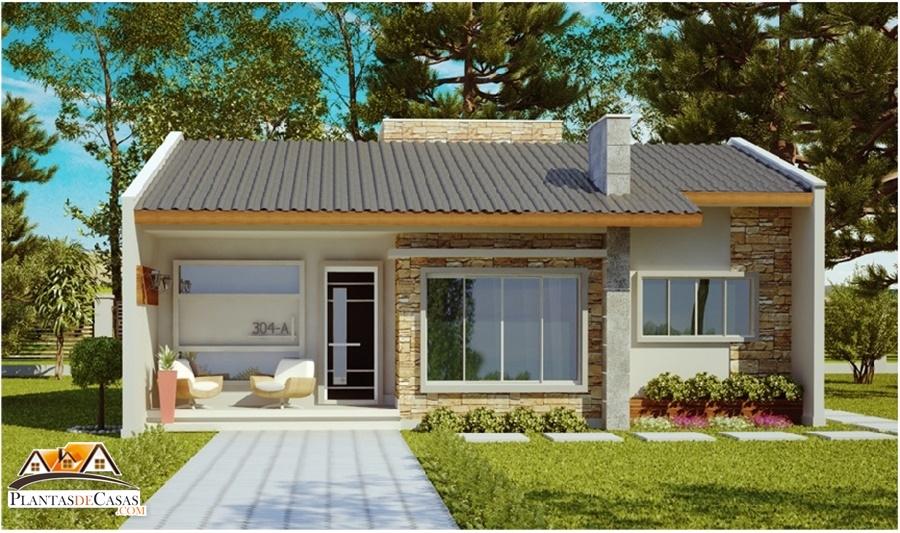 Casa ribeirao preto com 2 quartos e area de 70m2 plantas de casas - Casas de una planta rusticas ...