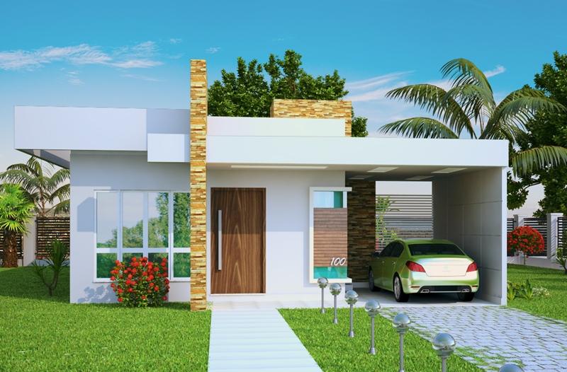 Casa terrea com 2 quartos e 1 suite plantas de casas for Fachadas de casas modernas de 2 quartos