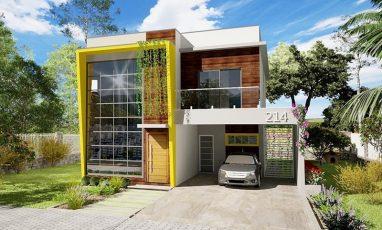 Duplex moderno com 3 quartos e 2 garagens