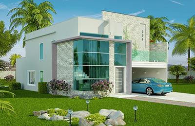 Plantas de casas projetos de casas modelos de casas for Casa moderna gratis