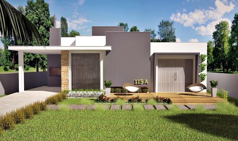Projeto de casa uberaba planta t rrea com 3 quartos for Casas modernas 120m2