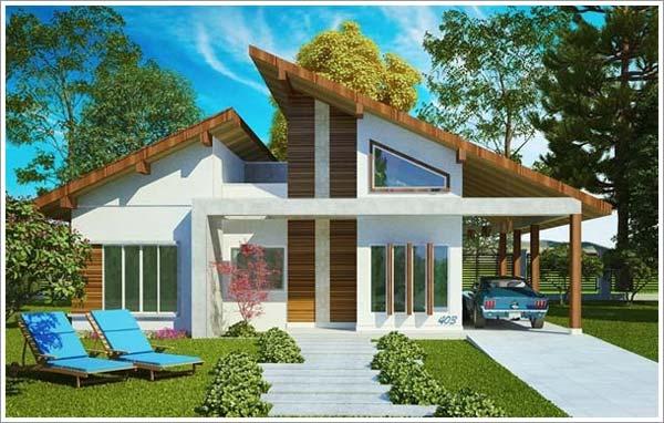 Plantas de casas com 4 quartos plantas de casas for Casa moderna revit