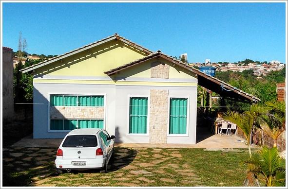 Fachada frontal da casa Santo André construída