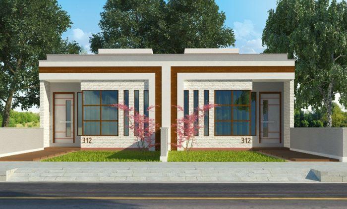Fachada casa terreno 5x23